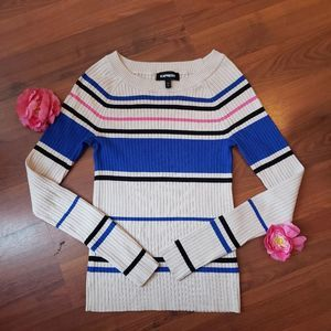 Express Ribbed Fitted Sweater